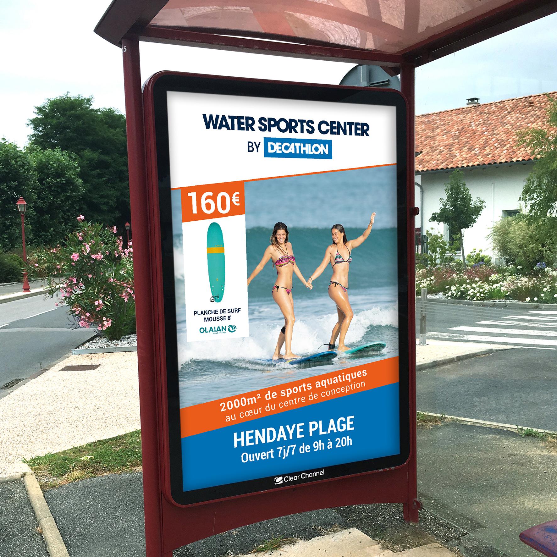 Affichage Water Sports Center by Decathlon