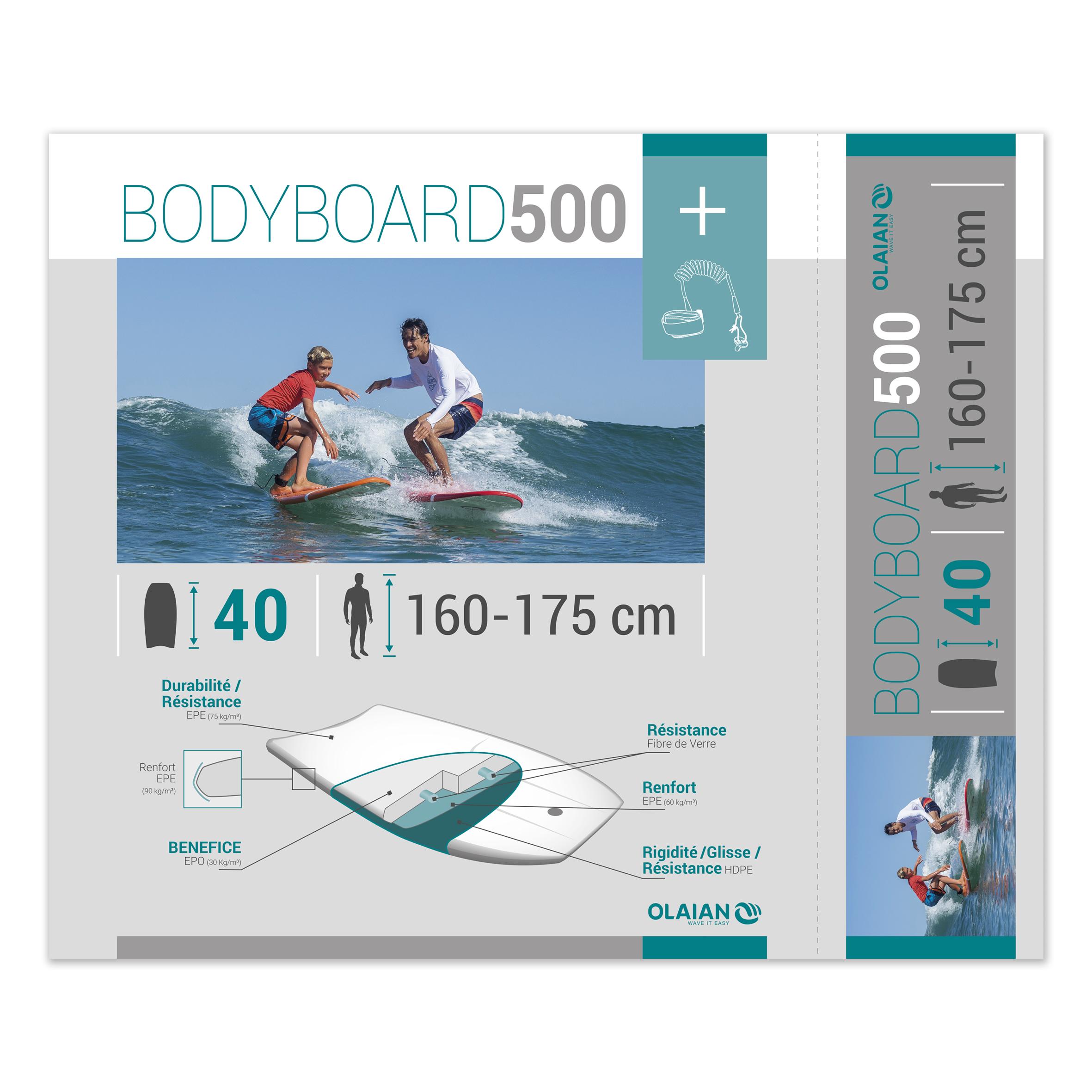 Etiquette packaging bodyboard Olaian